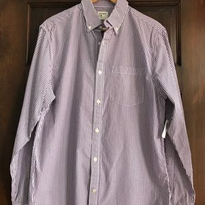 Purple and white striped Old Navy button down